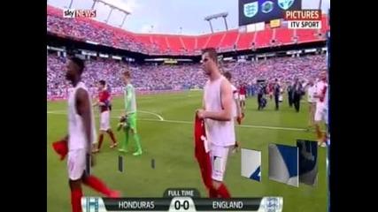 Англия – Хондурас 0:0, мълния прекъсна двубоя за 45 минути