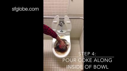 Ето какво става като испем кока кола в тоалетната