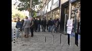 Протест на собственици на вятърни и соларни централи