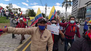 Ecuador: Yaku Perez supporters march in Quito to demand presidential election votes recount