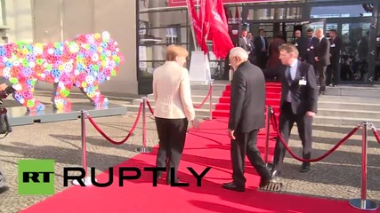 Germany: Merkel greets Indian PM Modi for Hannover Messe inauguration