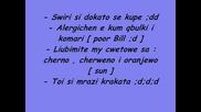 Bill Kaulitz the things he hates and likes ;dd / Bill Kaulitz za neshtata koito mrazi i obicha ;]