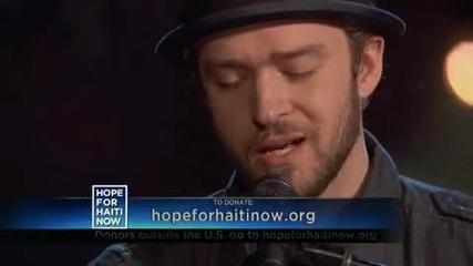 Hope For Haiti Now Justin Timberlake & Matt Morris - Hallelujah