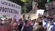 Czech Republic: Merkel met by protests upon arrival in Prague