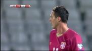 Дания отказа Сърбия с два гола за две минути