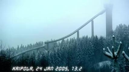 Audi Quattro изкачва ски скок