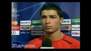 Интервю с Cristiano Ronaldo След изпускането на дузпата в мача срещу Barcelona !
