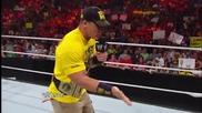 The Shield огражда пръстен след Randy Orton декларира, той ще бъде Wwe Champion Първична сила Август