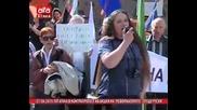 """Руската партия в България ,, Атака """" с протест в подкрепа на русия 27.4.2015"""