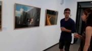 """Изложбата """"Кристо - ранни етюди в Бургас"""". Юни/юли 2020 г."""