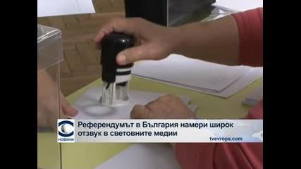 Националният референдум в България намери широк отзвук в световните медии