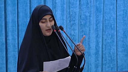 Iran: Soleimani's daughter warns the US of retaliation at funeral speech