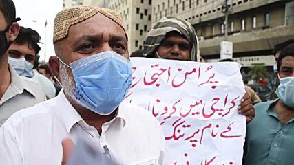 Pakistan: Hospitality workers rally against lockdown measures in Karachi
