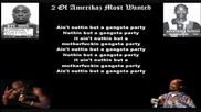 2pac ft snoop dogg - 2 of amerikaz most wanted (lyrics)