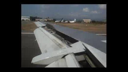 Кацане На Боинг 737-500 На Летище София на Bulgaria Air