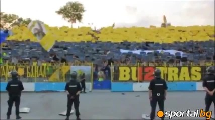 Levski - Botev 19.08.2012 3700 yellow-black fans.wmv