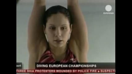 Хауслинг със злато на Европейското първенство по скокове във вода от триметров трамплин
