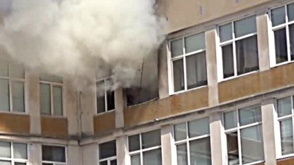 Пожар избухна в училище в Русе