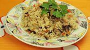 Гъби с ориз на фурна