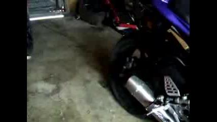 Yamaha R6 2006 Flames
