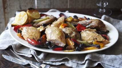 Италианско печено пиле с чушки и маслини | Найджелисима | 24Kitchen Bulgaria
