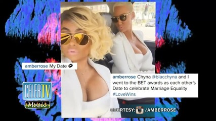 Love Wins! Amber Rose and Blac Chyna Lock Lips For Marriage Equality!