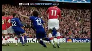 Манчестър Юнайтед 3 - 1 Арсенал Кристиано Роналдо Феноменален Удар От Фал И Гол *hq*
