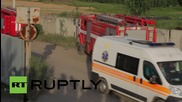 Ukraine: Oil depot blaze still raging despite efforts of 180 firefighters