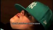 Justin Bieber загрява вокалистите си