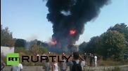Ukraine: Huge blaze devastates warehouse near Kiev