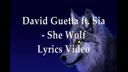 David Guetta ft. Sia - She Wolf (lyrics Video)