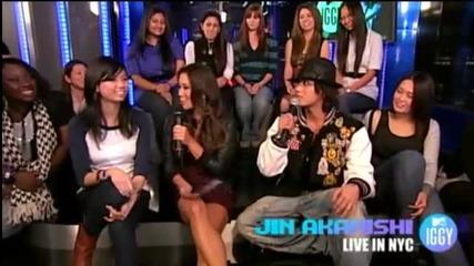 Jin Akanishi on Mtv Iggy Live in Nyc ( Fan Questions)