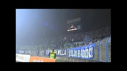 Това е Дерби! Железничар - Сараево - Феноменалната агитка на Жельо!!! *05.11.2011г.*