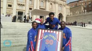 Pope Francis Meets the Harlem Globetrotters
