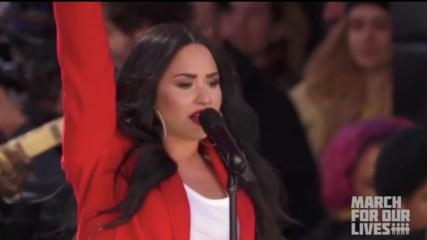 Уникална! Demi Lovato- Skyscraper (live at March 24)