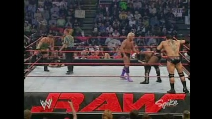 Ric Flair and Batista vs. Rvd and Booker T (tag Team Championship)