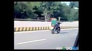 Моторист си почива