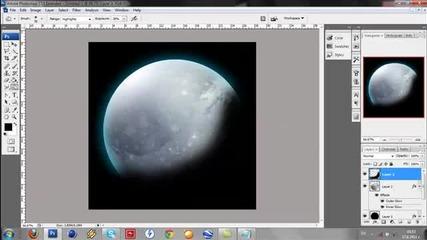 Създаване на планета с Photoshop