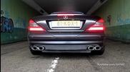 Mercedes-benz Sl55 Amg обороти & Ускоряване! Прекрасен Звук!