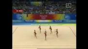 Българският ансамбъл в художествената гимнастика остана пети, златен медал за Русия