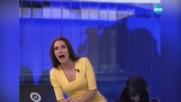 Куче изплаши водеща в руска телевизия