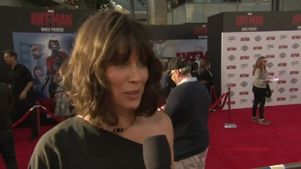 Evangeline Lilly Talks About Being A Super Hero At The Premiere Of 'Ant-Man'