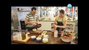 Студена супа от краставици, пълнени гризини, гювечета с луканка - Бон Апети (17.06.2013)