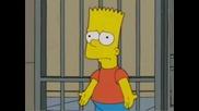 Барт от сем. Симпсън рапира