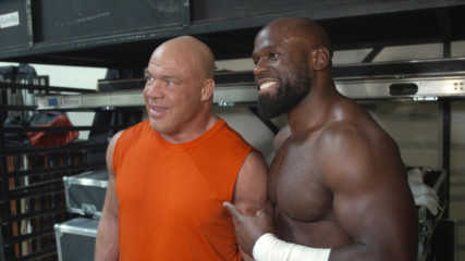 Apollo Crews on what Kurt Angle told him after his match: WWE.com Exclusive, March 18, 2019