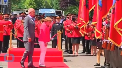 German Chancellor Angela Merkel Arrives In Bosnia, Last Stop of Her Balkan Tour