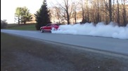 Nice burnout from this Shelby Gt500!