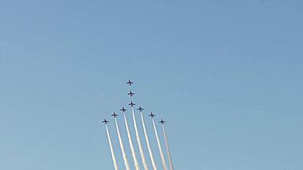 UK: Red Arrows put on mesmerising display for G7 leaders in Cornwall