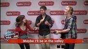 Ross Lynch and Laura Marano from Disney Channel's -austin & Ally- Singing on Radio Disney