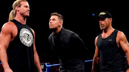 "Dolph Ziggler superkicks Shawn Michaels during ""Miz TV"": SmackDown LIVE, July 23, 2019"